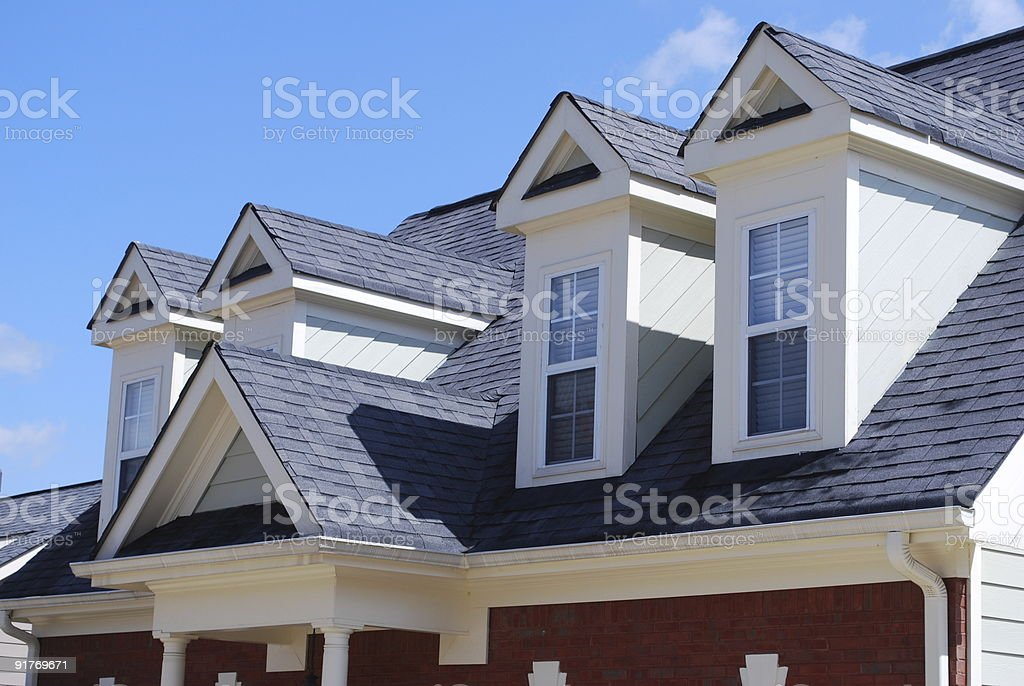 Top of a house stock photo