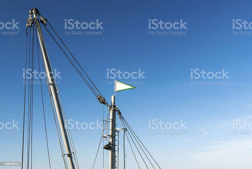 Top of a pontoon crane stock photo