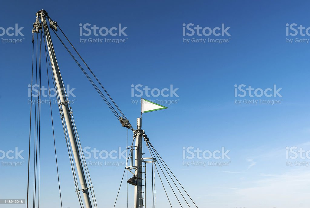 Top of a pontoon crane stock photo