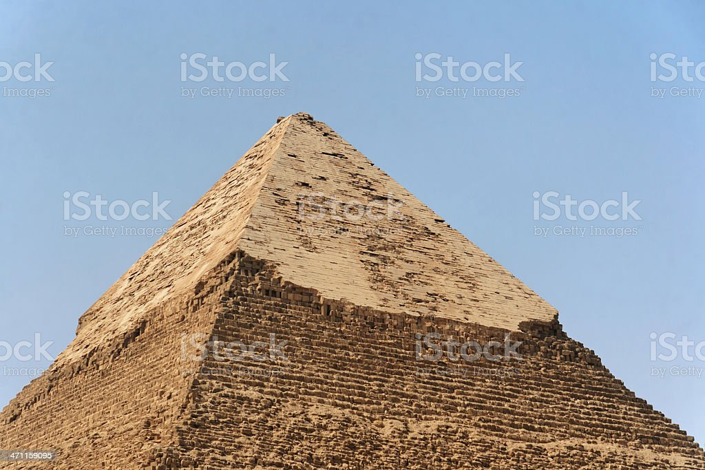 Top of a pyramid royalty-free stock photo
