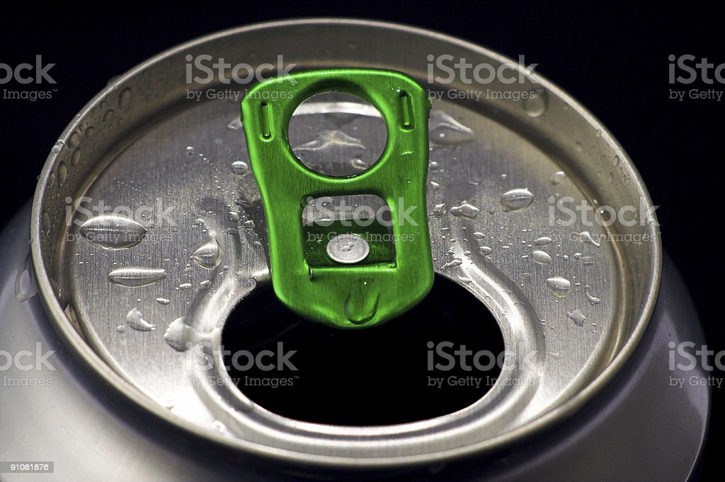 Top of a tin royalty-free stock photo