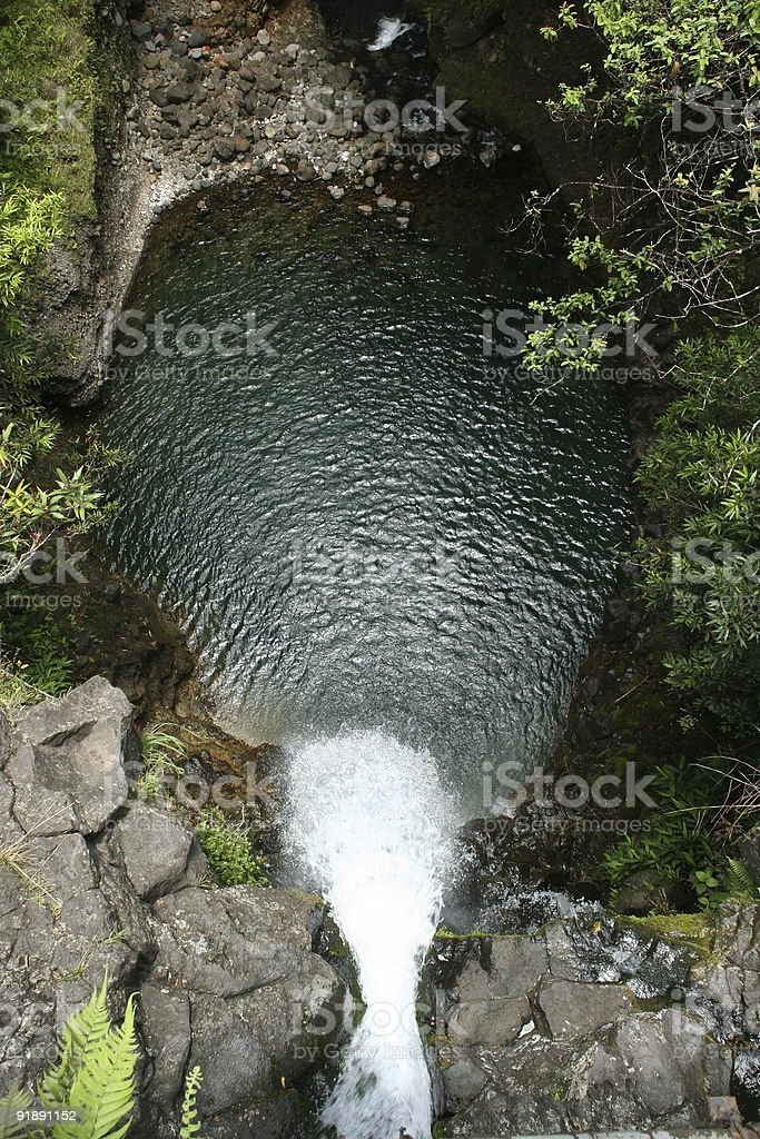 Top of a Waterfall royalty-free stock photo