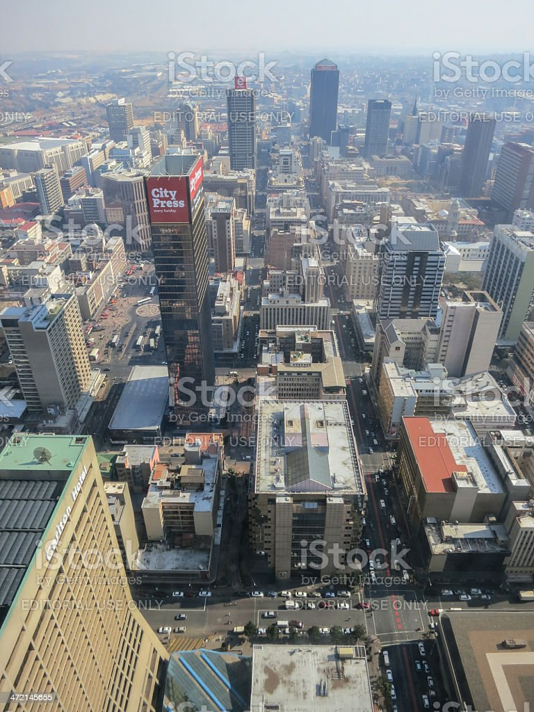 Top Of Africa View - Carlton Centre stock photo