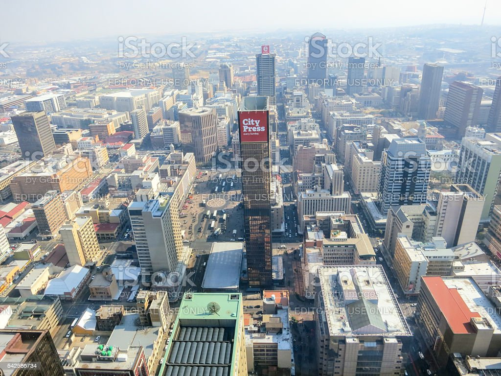 Top Of Africa View, Johannesburg, South Africa stock photo