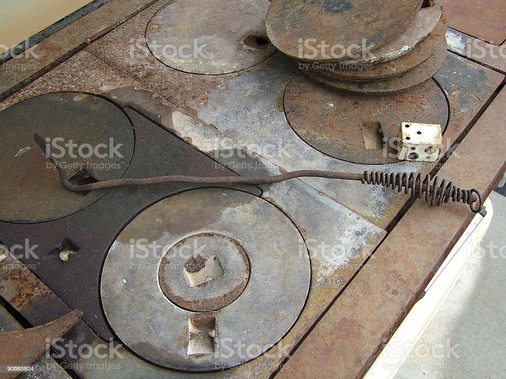 Top of Antique Stove-2 royalty-free stock photo