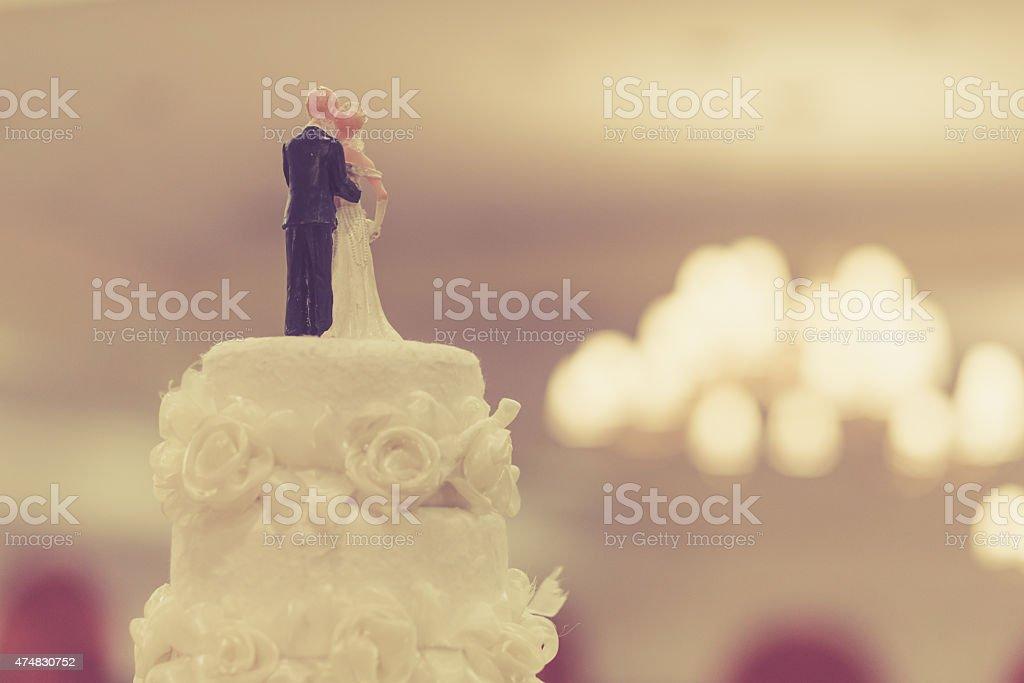 Top of Cake for wedding ceremony stock photo