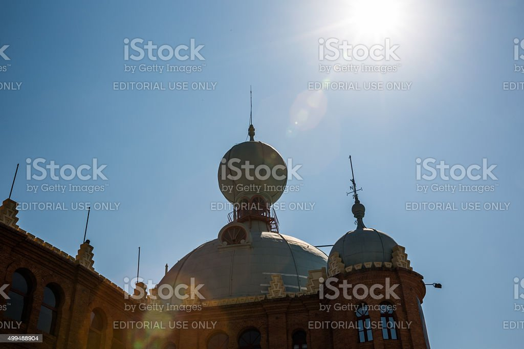 Top of Campo Pequeno, Lisbons Bullring, Portugal stock photo