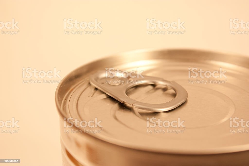Top of Canned Food stock photo