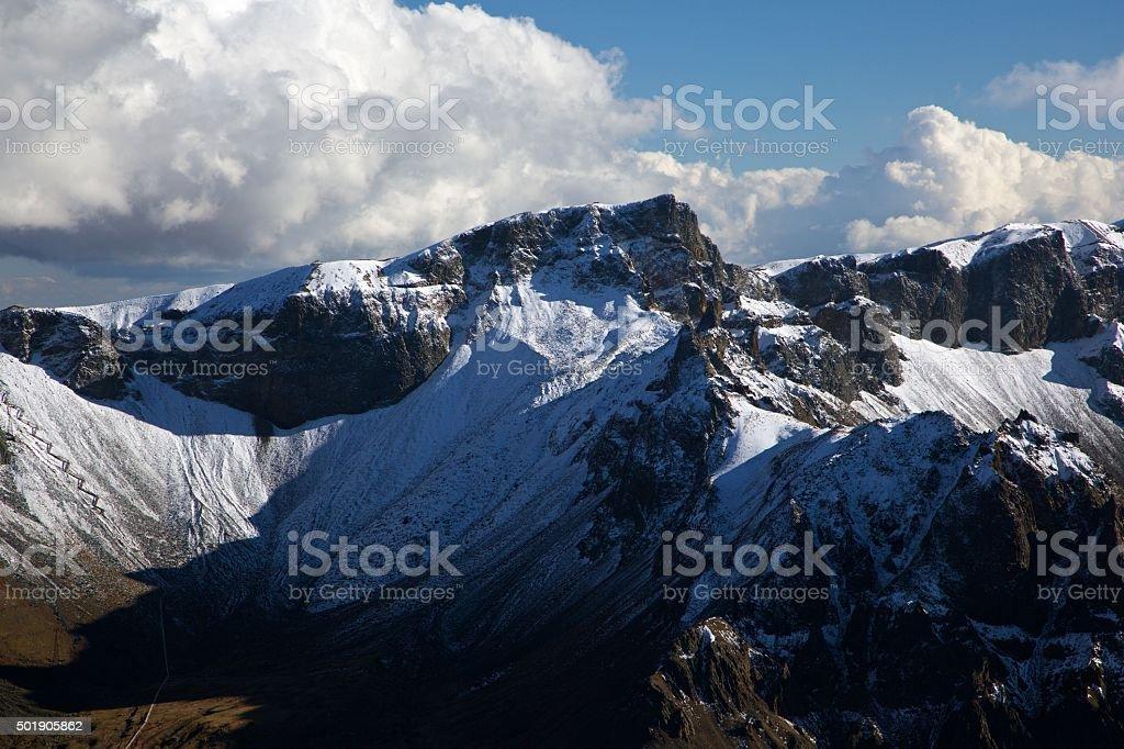 Top of Changbai Mountain stock photo