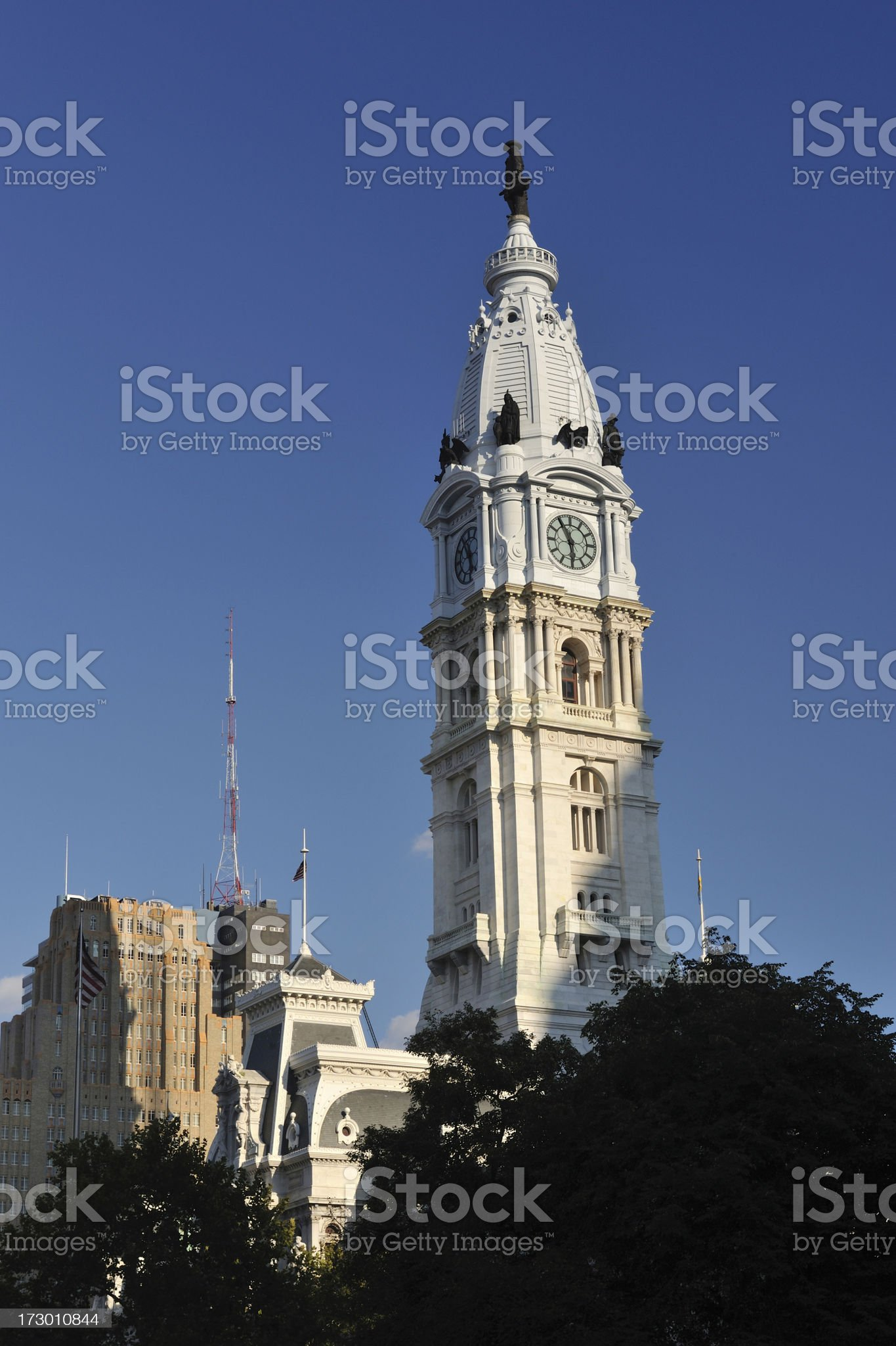 Top of City Hall royalty-free stock photo