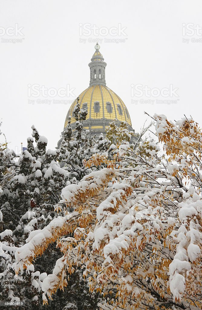 Top of Colorado State Capitol Building royalty-free stock photo