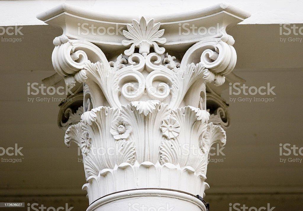 Top of Column - Corinthian Style royalty-free stock photo