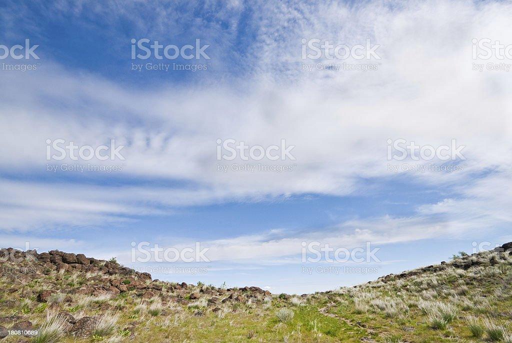 Top of Cowiche Ridge royalty-free stock photo