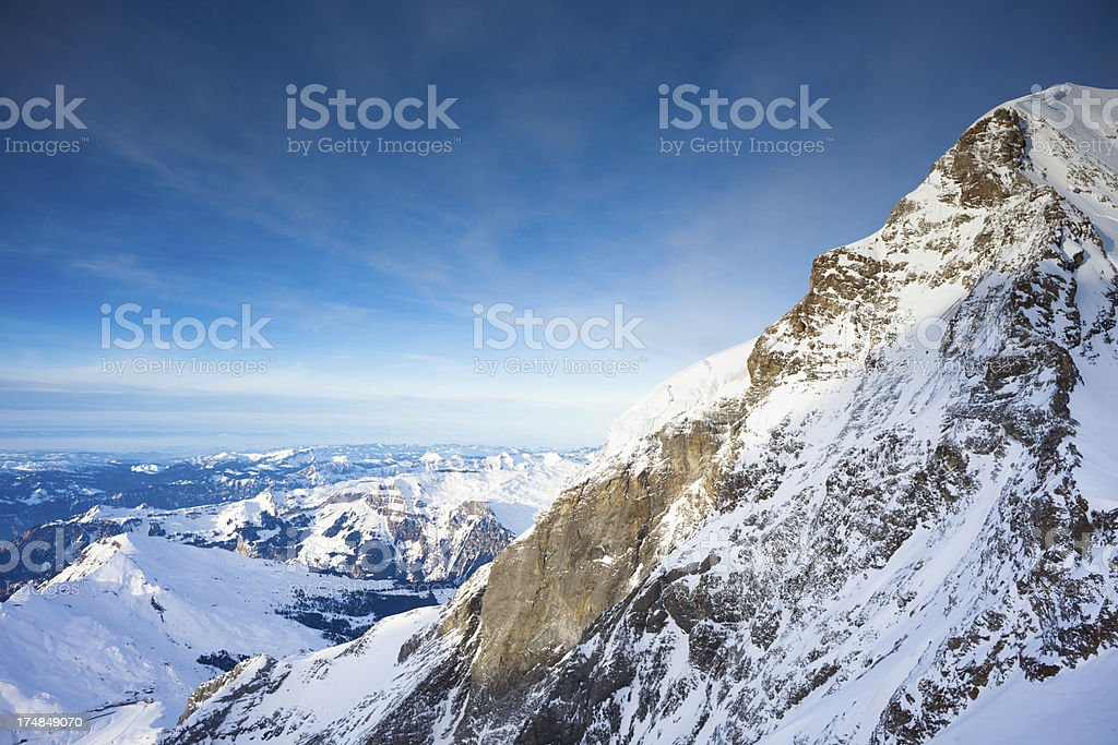 Top of Europe, view from Jungfraujoch stock photo