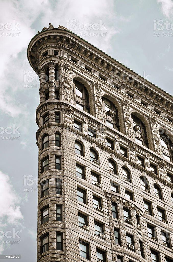 Top of Flatiron Building in New York City stock photo