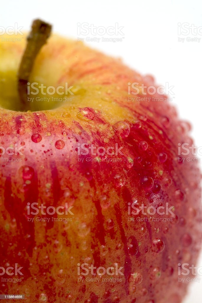 Top of Gala apple with condensation royalty-free stock photo