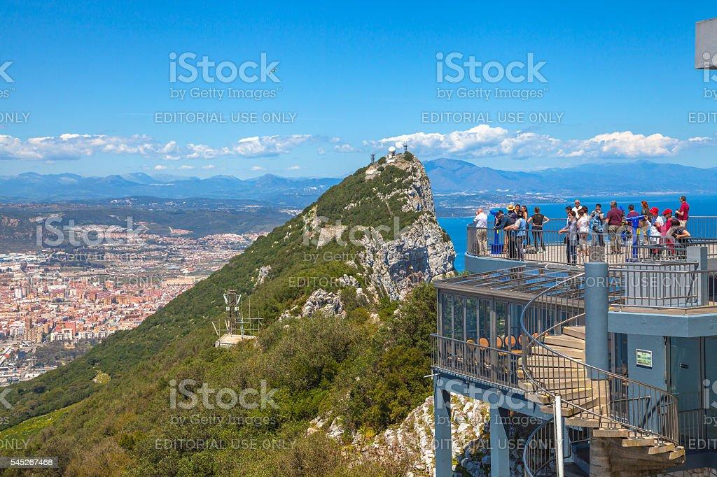 Top of Gibraltar Rock stock photo
