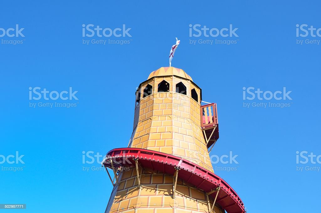 Top of Helter Skelter stock photo