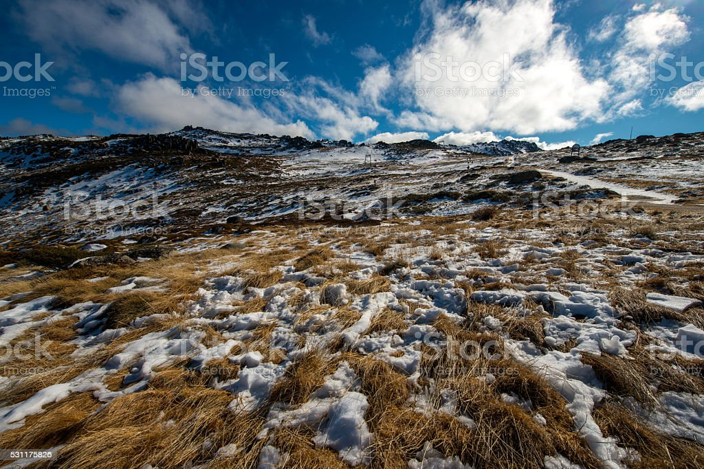 Top of Kosciuszko national park stock photo
