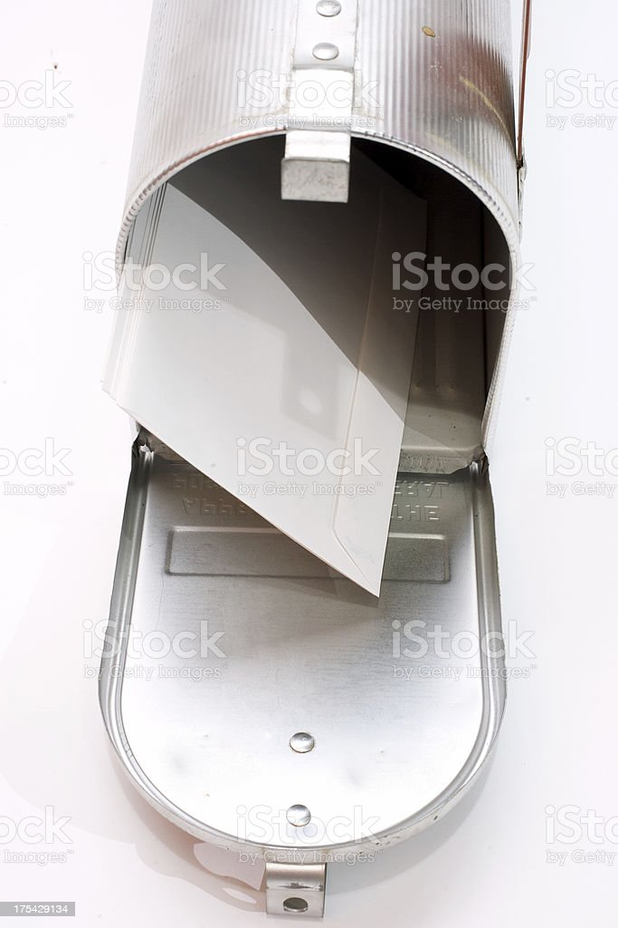 Top of mailbox royalty-free stock photo