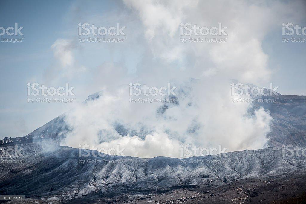 Top of Mount Aso stock photo