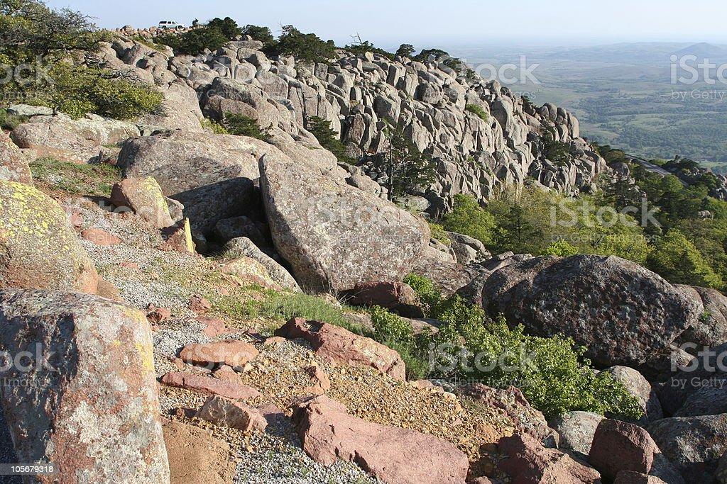 Top of Mount Scott, Oklahoma stock photo