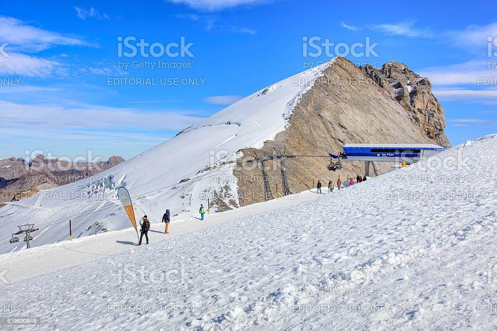 Top of Mt. Titlis in Switzerland stock photo