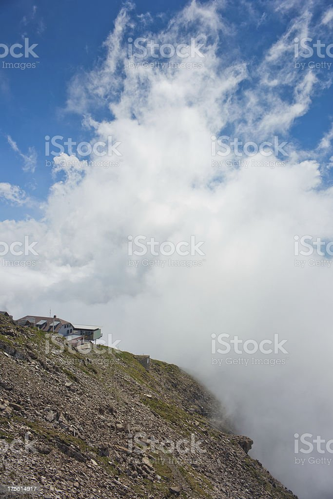 Top of Niesen mountain,Switzerland royalty-free stock photo