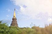 top of Phra That Napamaytanidoli, pagonda in Doi Intthanon. Chia