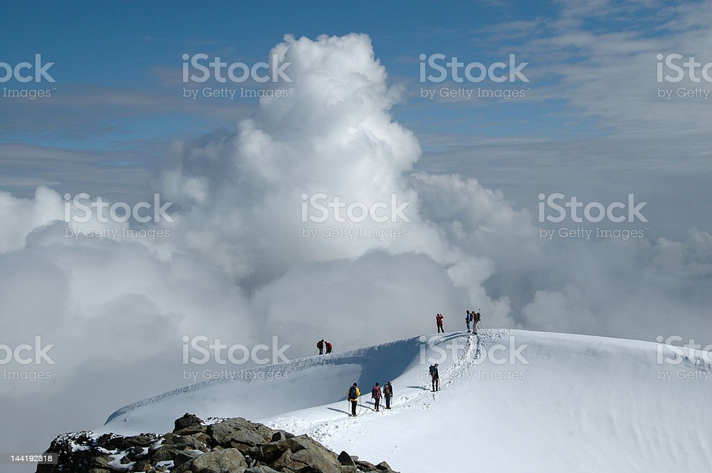 Top of Piz Morteratsch royalty-free stock photo