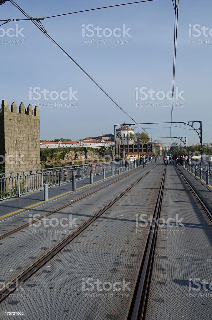 Top of Ponte D. Luis in Porto, Portugal royalty-free stock photo