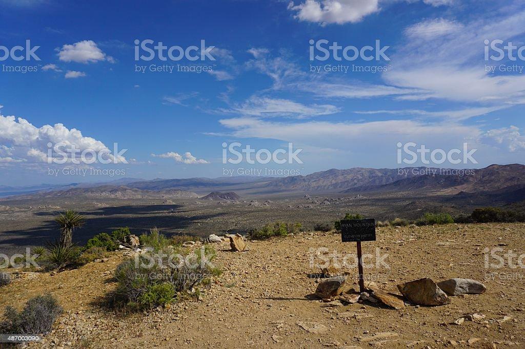 Top of Ryan Mountain stock photo