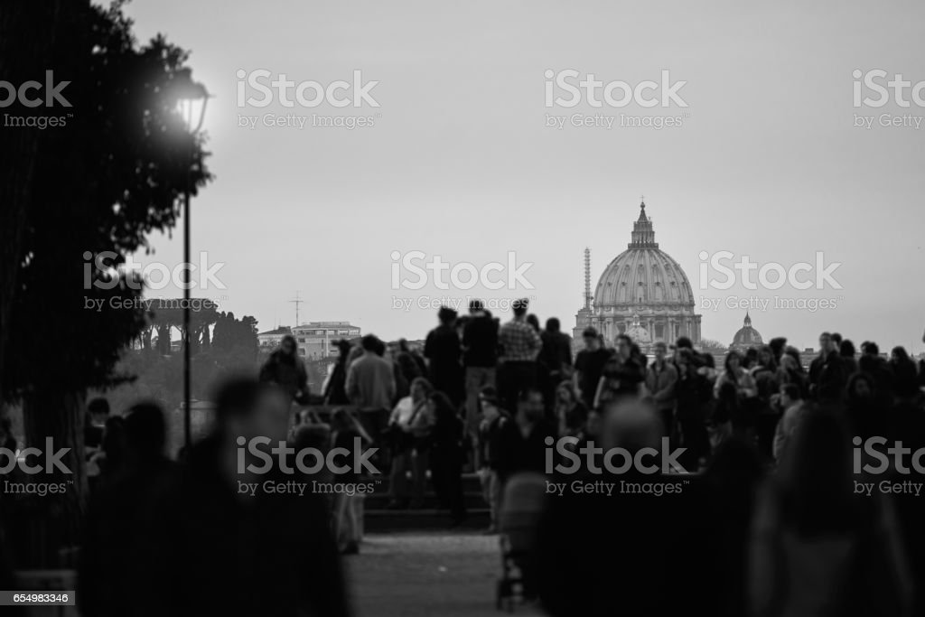 top of San Pietro Basilica stock photo