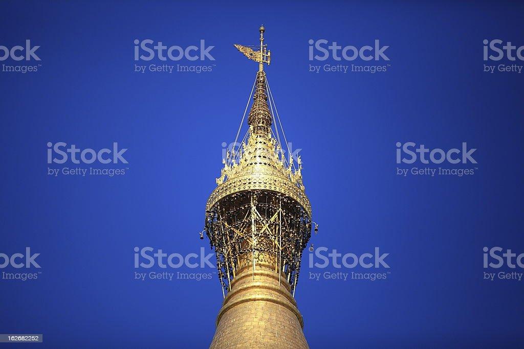 Top of Shwedagon Pagoda royalty-free stock photo