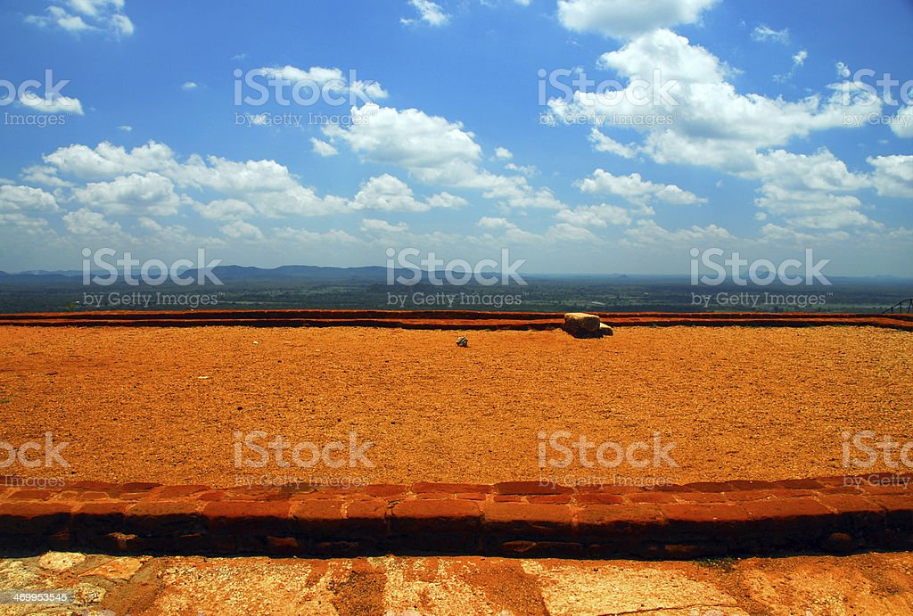 Top of Sigiriya lion rock fortress, Sri Lanka stock photo