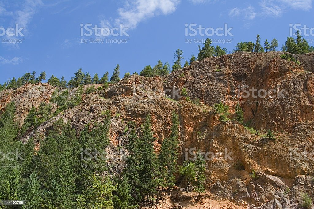 Top of Sinclair Canyon stock photo