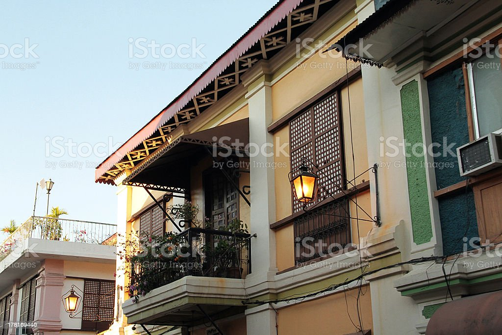 Top di ispirazione spagnola edificio in Vigan, Filippine foto stock royalty-free