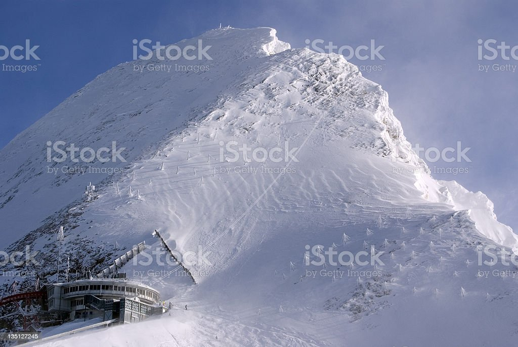 Top of the Alps stock photo