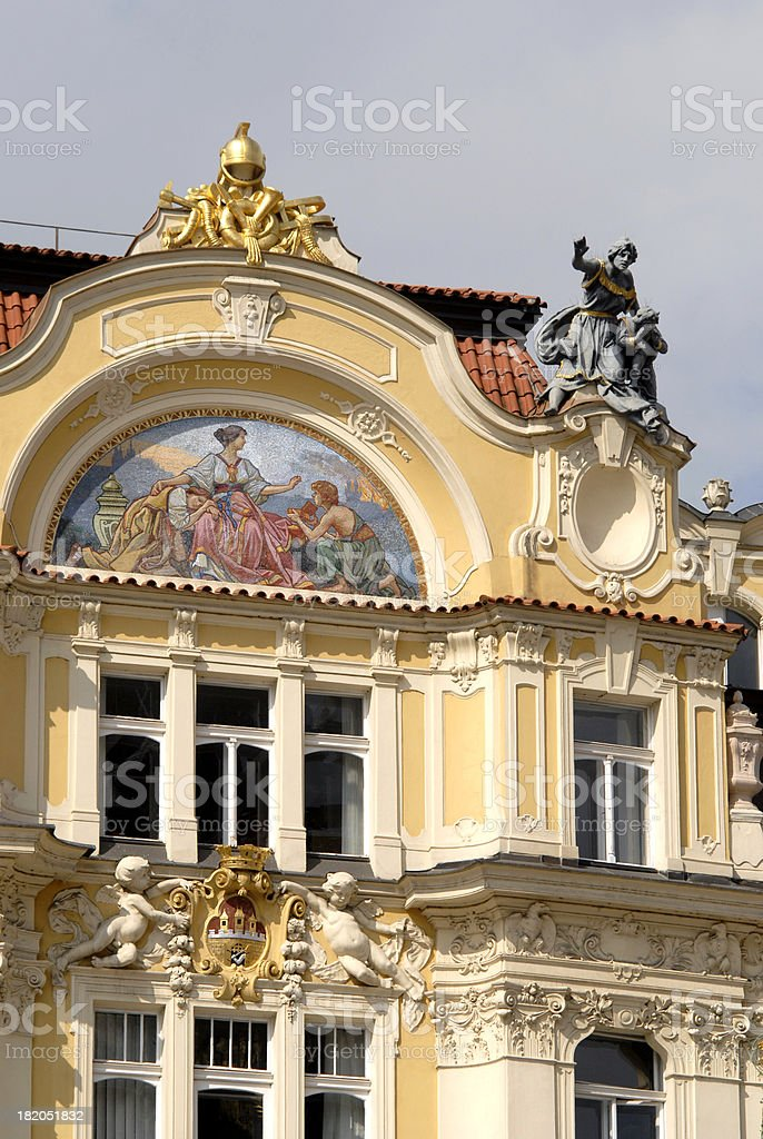 Top of the building, Old Town Square royalty-free stock photo