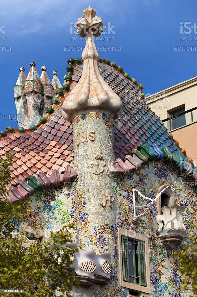 Top of the Casa Batllo stock photo