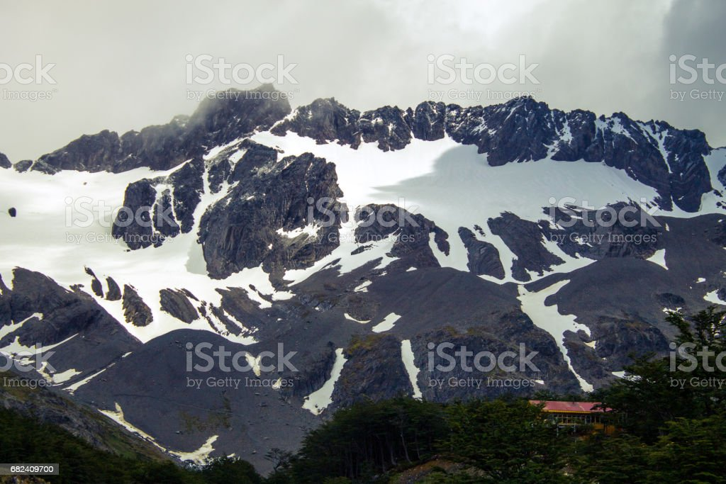 Top of the Cerro Martial, Ushuaia, Tierra del Fuego Province, Argentine Patagonia, South America. stock photo