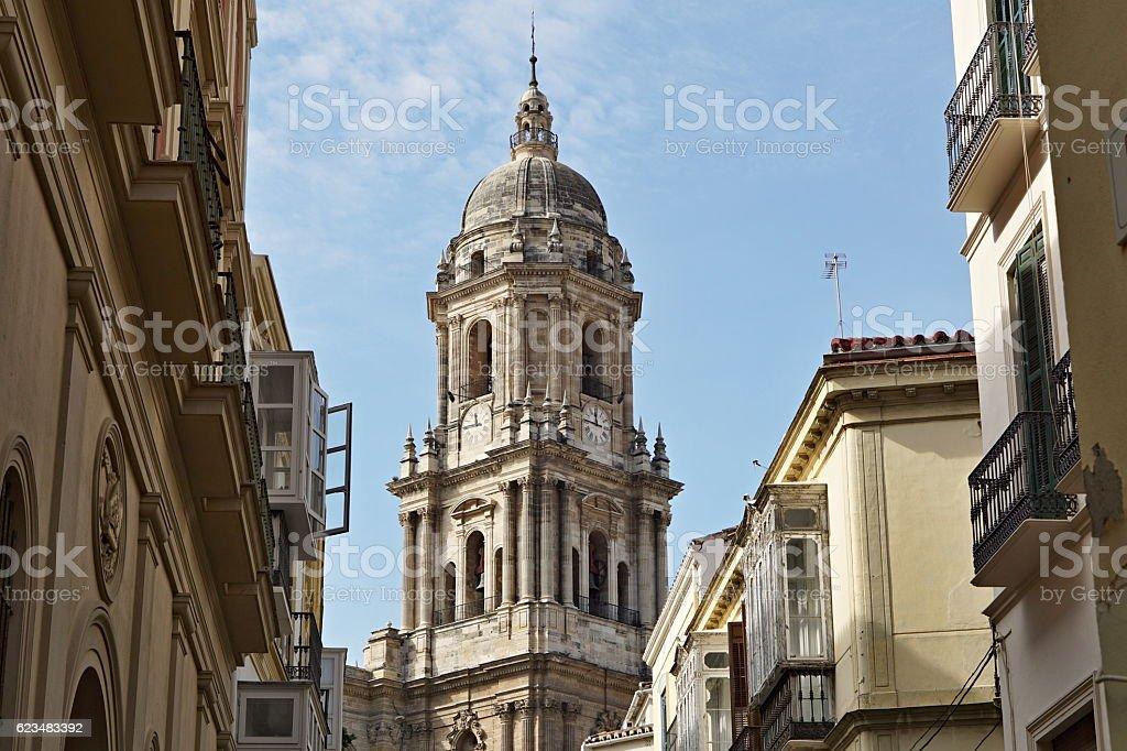 Top of the church in  La Linea de la Concepcion stock photo