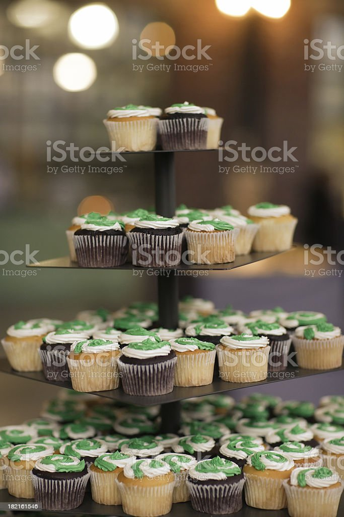 Top of the Cup Cakes Tower royalty-free stock photo