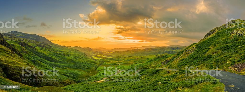 Top of the Lake District stock photo