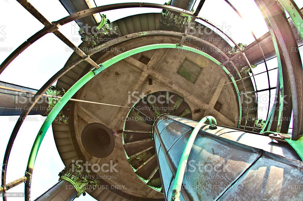 top of the Michel, the most scenic  church in Hamburg stock photo