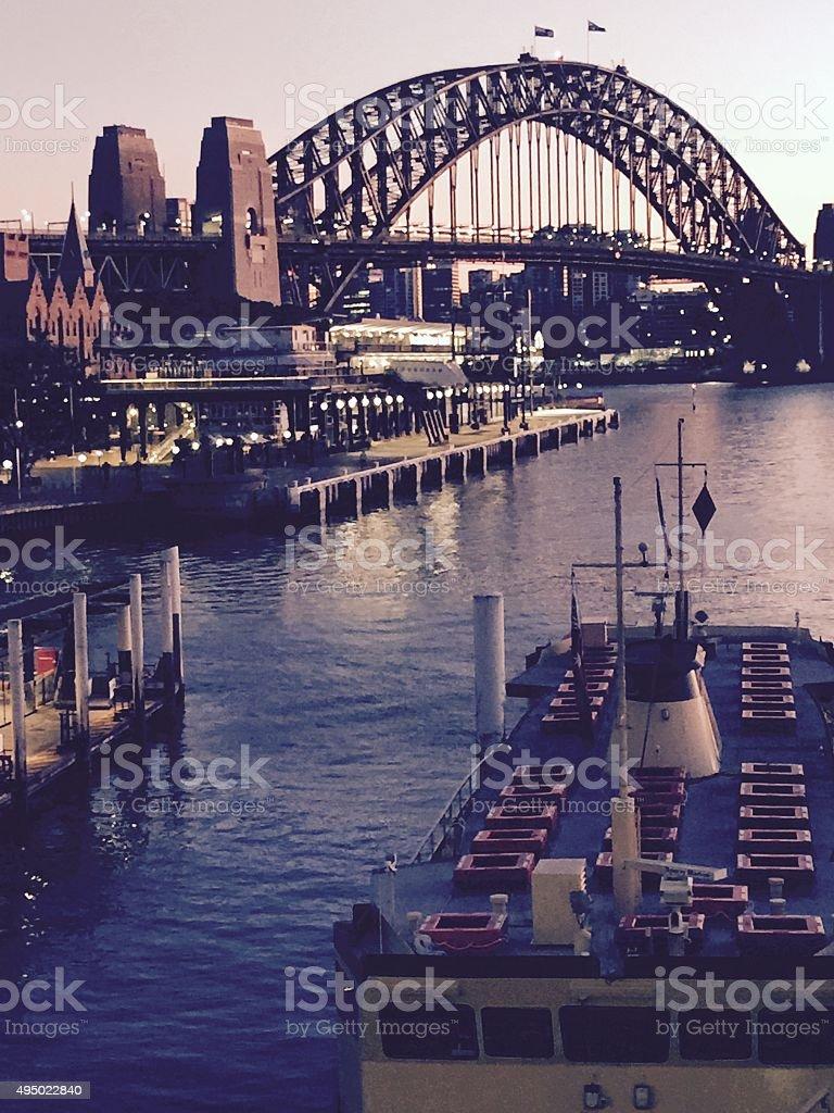 Top of the morning Circular Quay Sydney stock photo