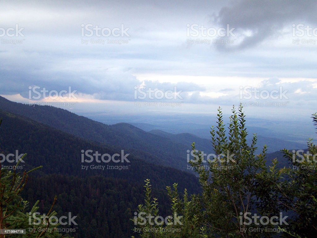 Top Of The Mountain stock photo