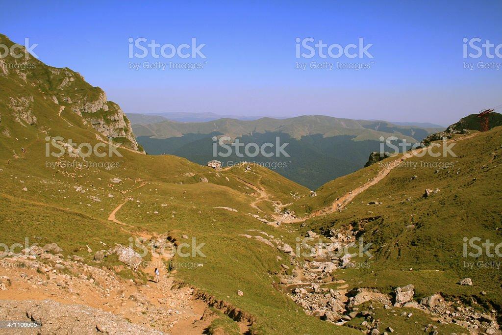 top of the mountin 'Caraiman', Busteni, Romania stock photo