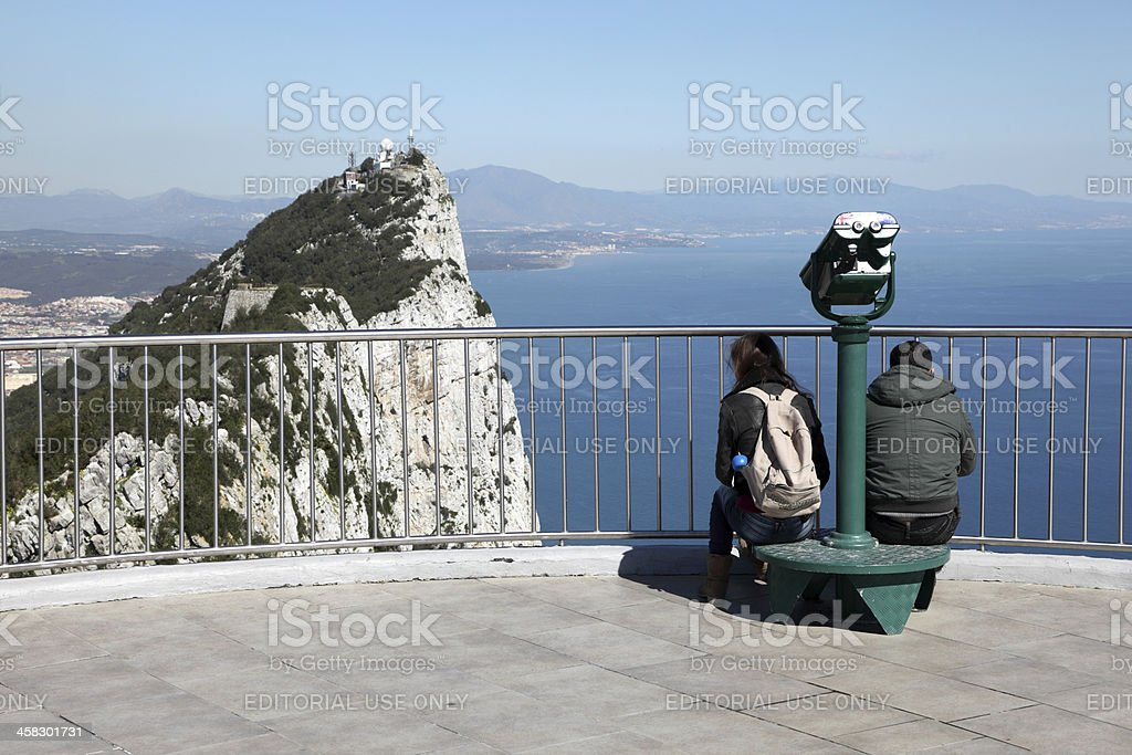 Top of the Rock platform in Gibraltar royalty-free stock photo