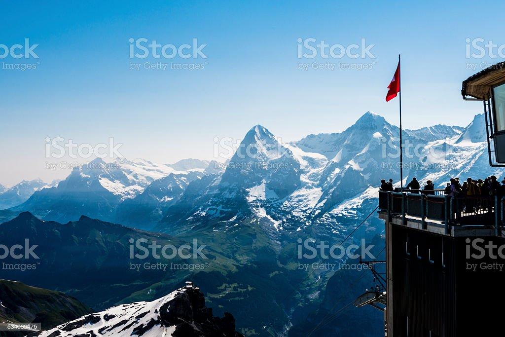 Top of the Schilthorn, Switzerland stock photo